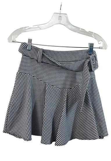 B&W Gingham Skirt