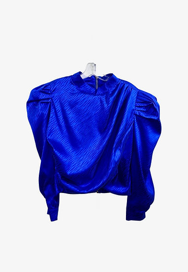 Electric Blue Puff Sleeve Top