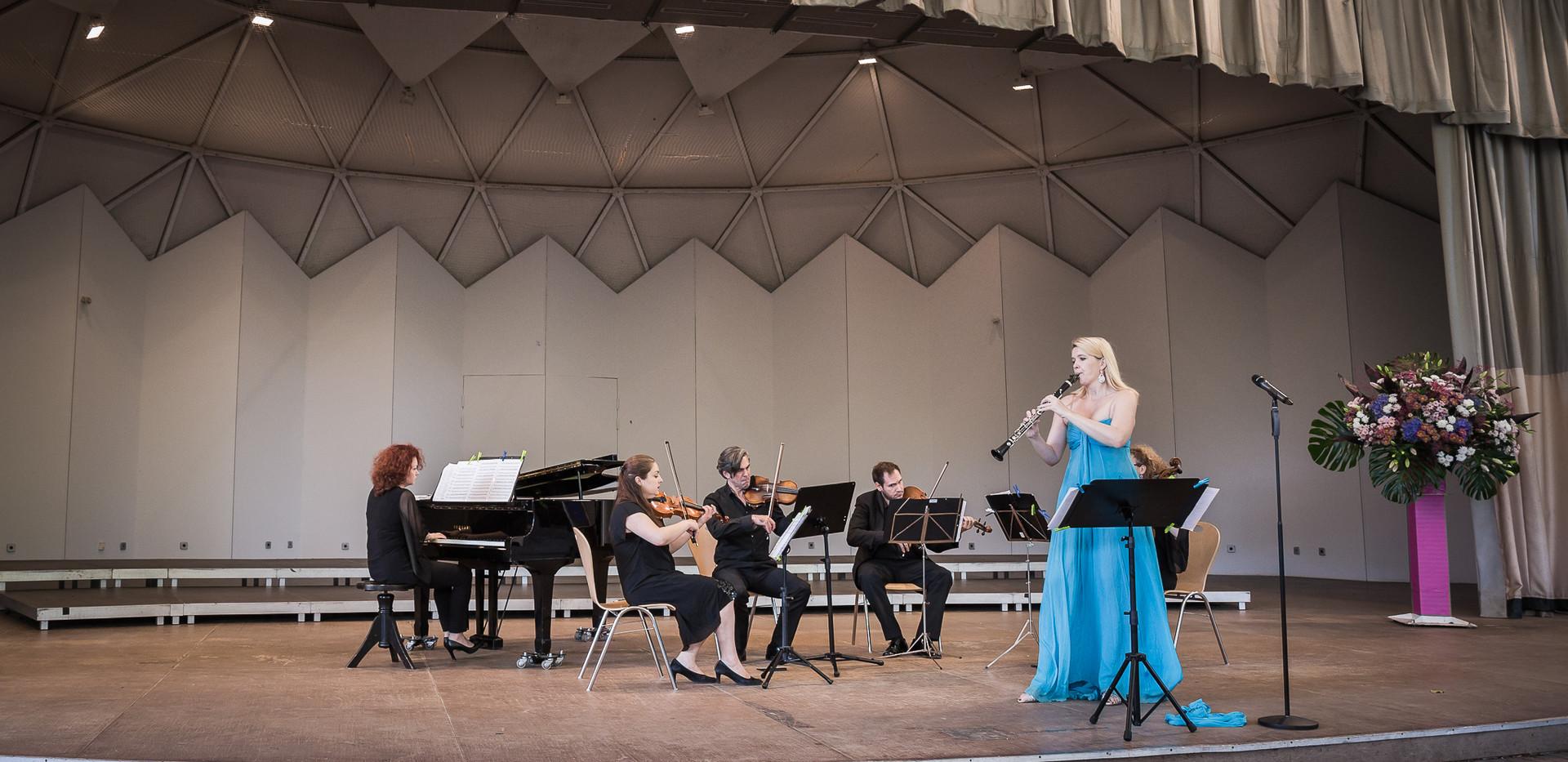 In Gruga Park Essen mit Klarinettistin Sabine Grofmeier