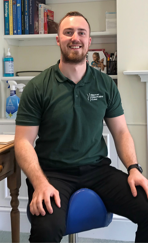 Austin Wells-Burr sat at Honiton Chiropractic Clinic