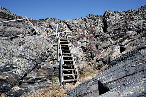 stairs in rocky landscape