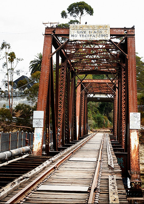 trestle bridge in santa cruz