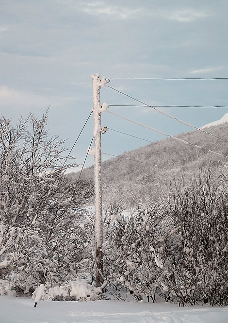 electricity in artic landscape