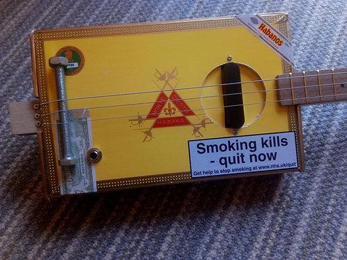 Monte Cristo Cigar Box - fretted, pickup