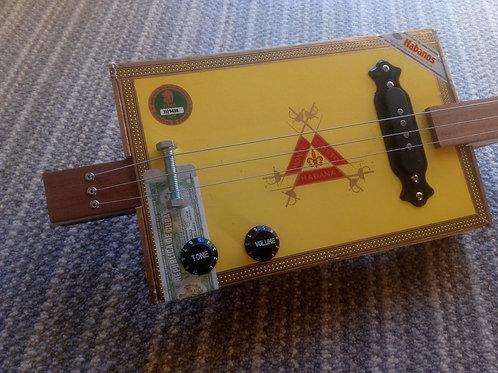 """Old School with Fretboard &Pickup"" Cigar Box Guitar Kit"