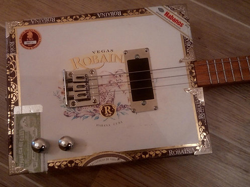 "Robaina ""Two Tone"" Cigar Box Guitar"