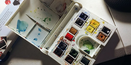 Winsor Newton watercolor pan ppen