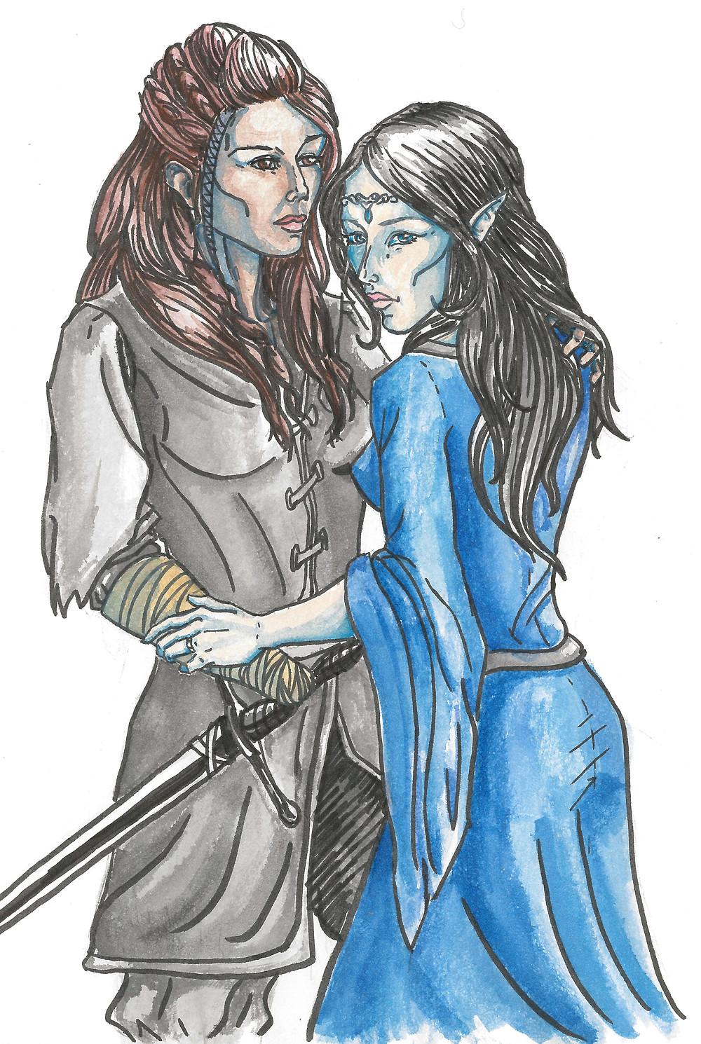 Luthien and gender bend Beren