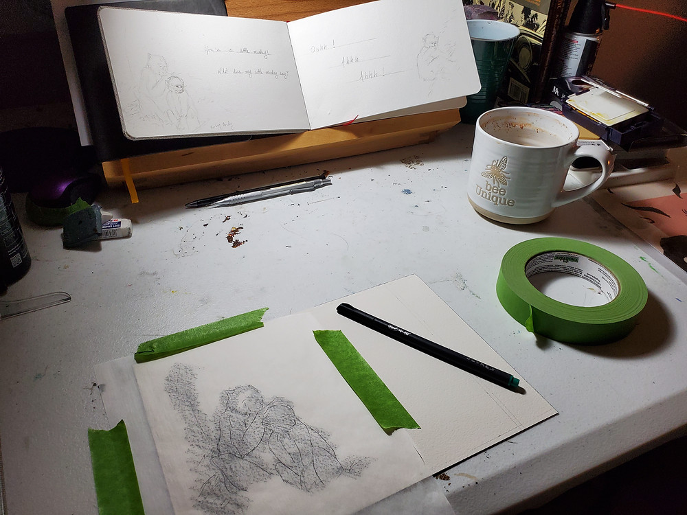 Image transfer with parchment paper and graphite