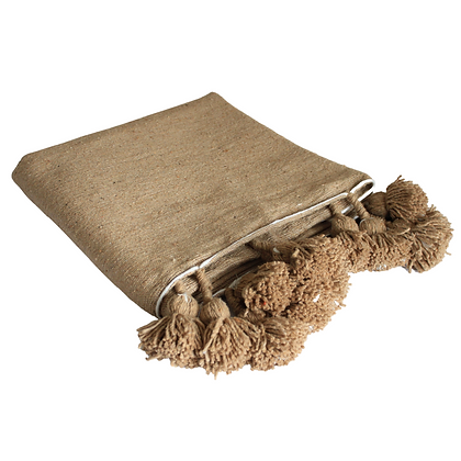 Tasseled Throw in Tan