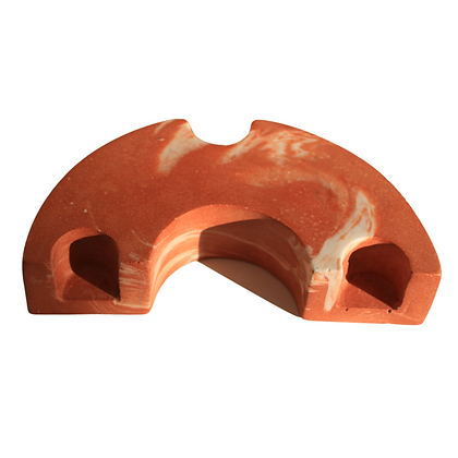 Marbled Terracotta Turn Candle Holder by Rekha Maker
