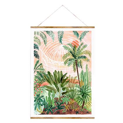 Midnight to 6 Wall Art Print, Victorian Greenhouse