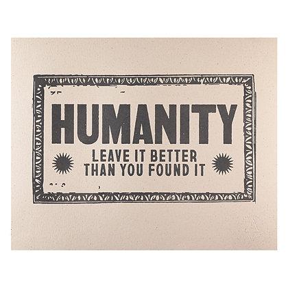 Humanity Wall Art Print