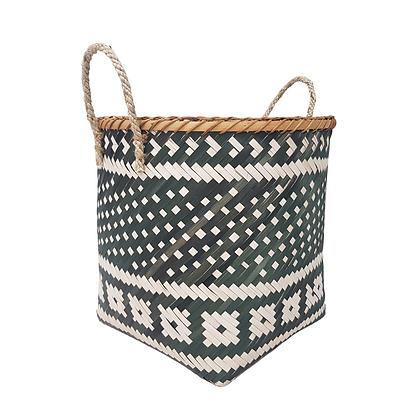 Black & Natural Basket by Hestia