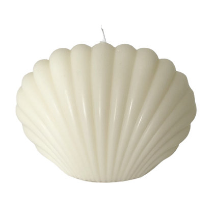 Shell Candle, White