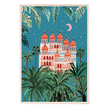Midnight to 6 Wall Art Print, Starry Night Jaipur