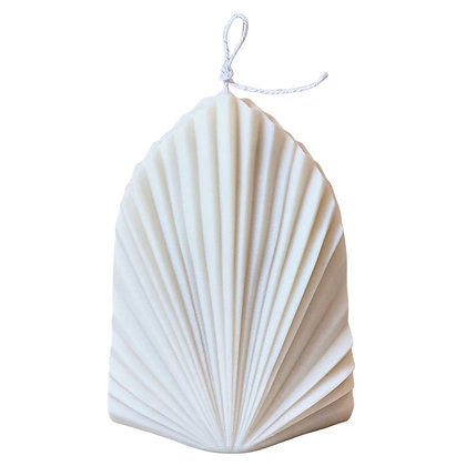 Palm Spear Candle, Cream