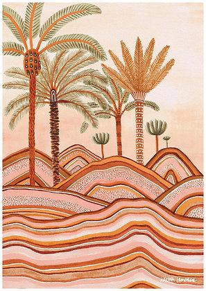 Karina Jambrak Dusty Plains Wall Art Print
