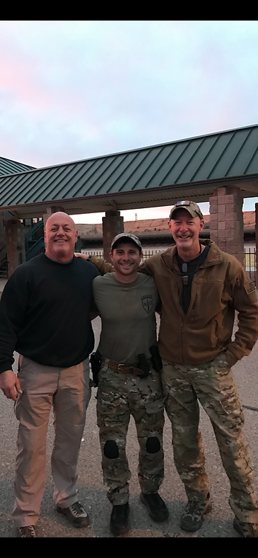 """THE NOD SQUAD"" Jamey Caldwell (Delta - ret.) and Pat Hickcox (US Army - ret.) at NVG class, Tucson 2018"