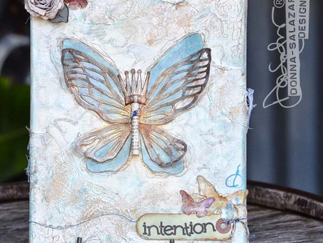 """Mixed Media Canvas """"Intention"""" by Donna Salazar"""