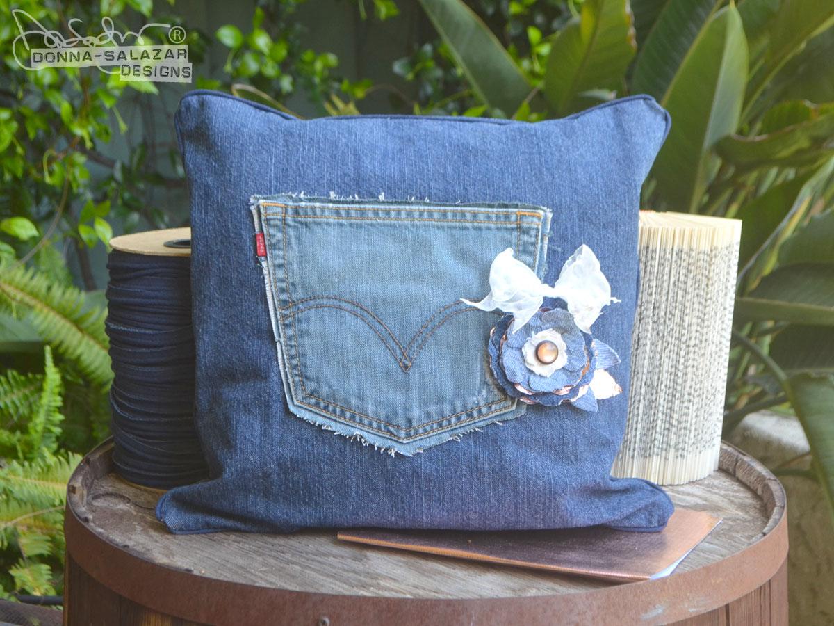 Denim Pocket Pillow