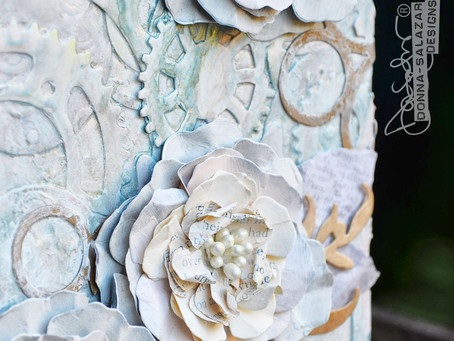"""""""Becoming Blissful"""" Mixed Media Canvas Tutorial by Donna Salazar"""