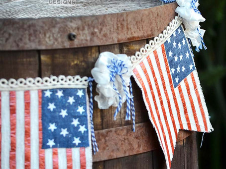 4th Of July Canvas Banner Tutorial by Donna Salazar