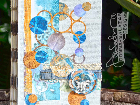 Gel Press Mixed Media Art Journal Classes by Donna Salazar