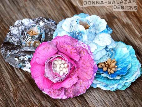 Monoprint Jumbo Roses for Spellbinders