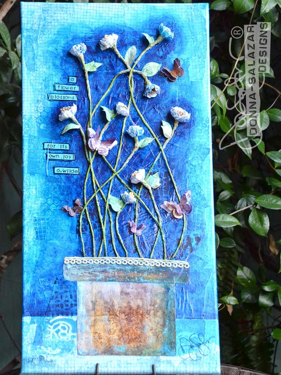 FlowerMixedMediaCanvas-DonnaSalazar2