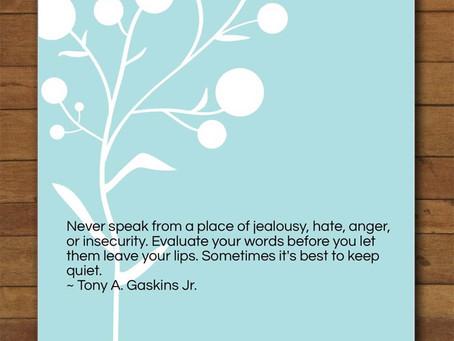 Sometimes It's Best To Keep Quiet...