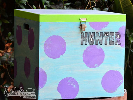 Wooden Disney Themed Toy Boxes by Donna Salazar