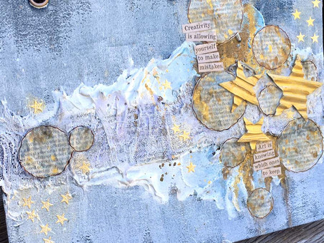 DIY Mixed Media Denim Art Journal Cover by Donna Salazar