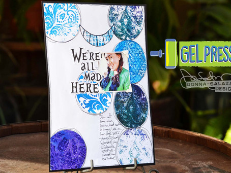 Petite Mosaics Layout & Card by Donna Salazar