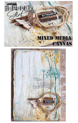 FREE Strength Mixed Media Canvas