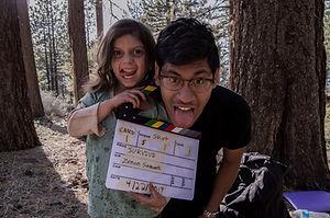 "Hadassah Shaeen and Zenon Samuels behind the scenes of ""Survive."""