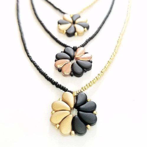 Dual Tone Flower Necklace