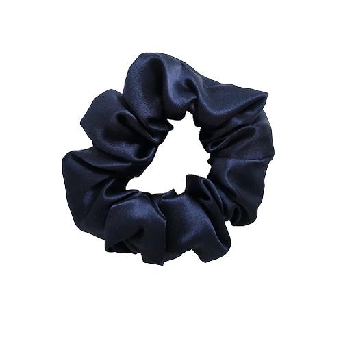 Classic Mulberry Silk Scrunchie - Midnight Blue