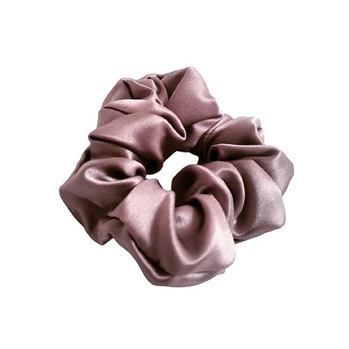 Classic Mulberry Silk Scrunchie - Mauve