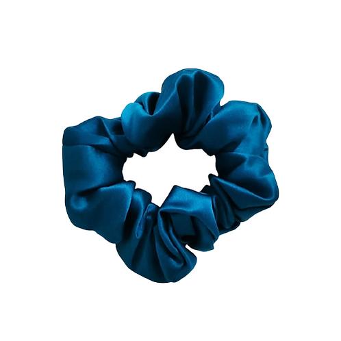 Classic Mulberry Silk Scrunchie - Ocean Blue