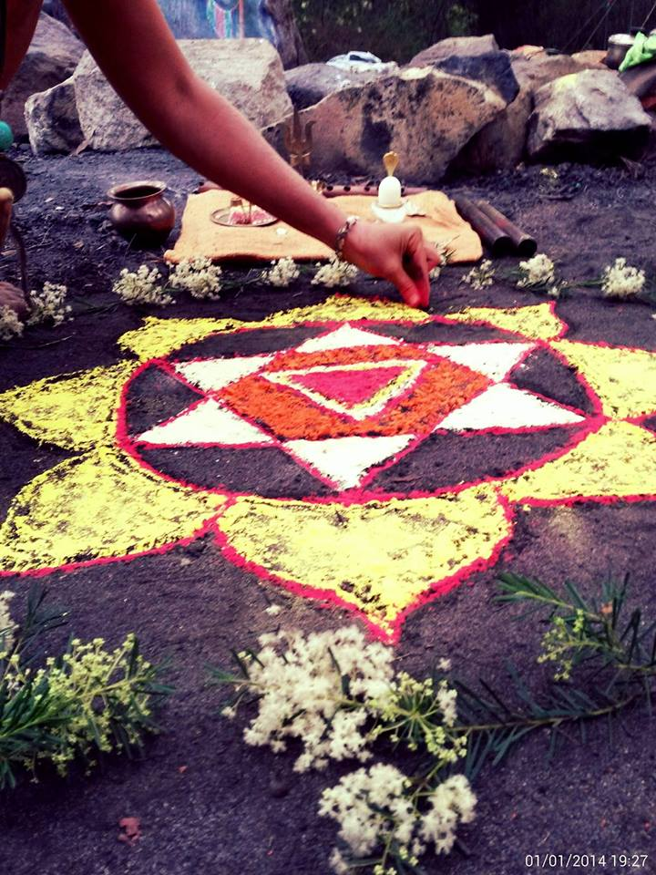 Red Tent Flower Havan October 2017