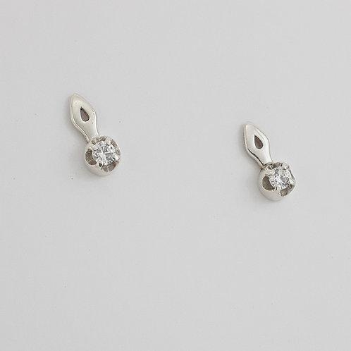 Brinco Lambrequim Mini P c/ Pedra .5