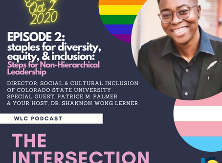Join us for The Intersection: Diverse Folx Converse Podcast, Episode 2 with Patrice M. Palmer
