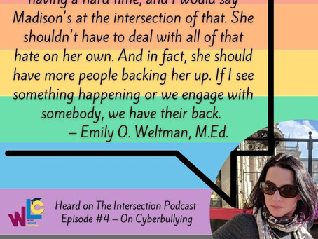 Watch The Intersection Podcast premiere on Cyberbullying & the Non-profit Rage2Rainbows TODAY