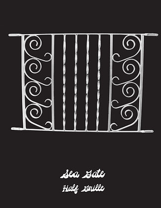 Sea Gate, half screen door grille