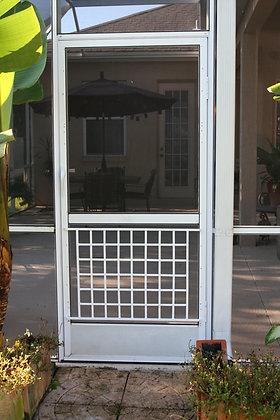 Basket Weave, half screen door grille
