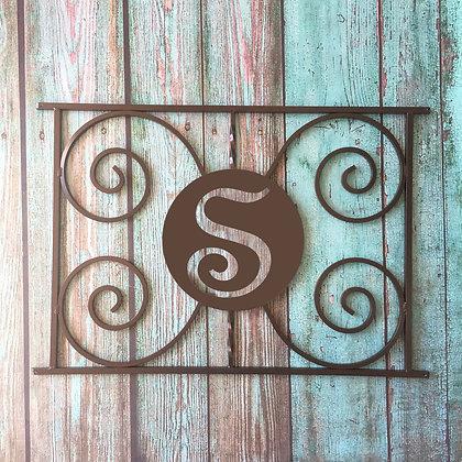 The Monogram, half screen door grille