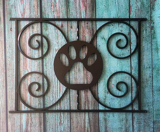 Paw Print, half screen door grille