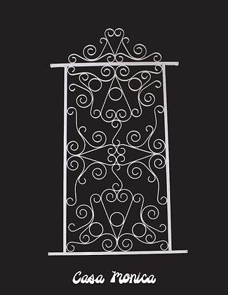 Casa Monica, screen door grille