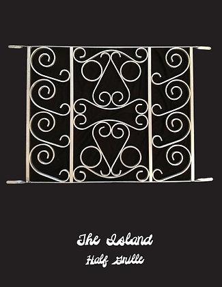 The Island, half screen door grille